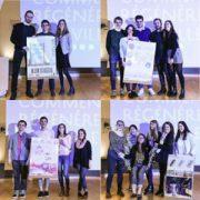 """Les quatre groupes d'étudiants ont été pré-sélectionnés, le 26 janvier dernier, dans le cadre du concours """"Comment régénérer la ville ?"""" [©Vicat]"""