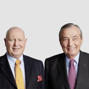 Thomas Schmidheiny et Bertrand Collomb ont annoncé qu'ils ne se représenteraient pas à leur réélection au conseil d'administration de LafargeHolcim [©LafargeHolcim]