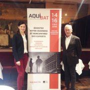 Delphine Demade, directrice d'Aquibat, et Bernard Aldebert, qui pilote le comité technique du salon. [©ACPresse]