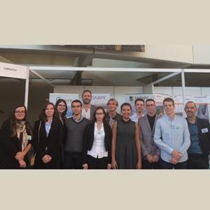 Deux groupes d'étudiants de l'Insa Rennes et de PolyTech Marseille récompensés par les professionnels de la construction. [©SNBPE]