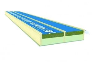 Le TrilatteConfort est le premier panneau, associant polyuréthane et laine minérale. [©Unilin Insulation]