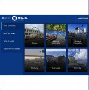 Le nouveau site internet web de Teralta permet une navigation plus facile et rapide. [©Teralta]