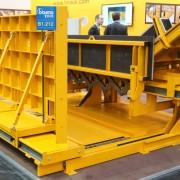 Coffrage pour la préfabrication d'escaliers bi-position.
