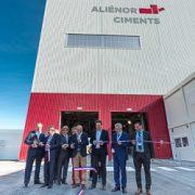 Inauguration de l'usine de production d'Aliénor Ciments, à Tonneins, le 23 octobre 2018. [©ACPresse]