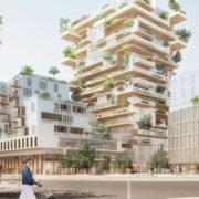 A Bordeaux, la tour Hypérion est l'une des réalisations majeures en bois d'Eiffage Construction. [©Eiffage]