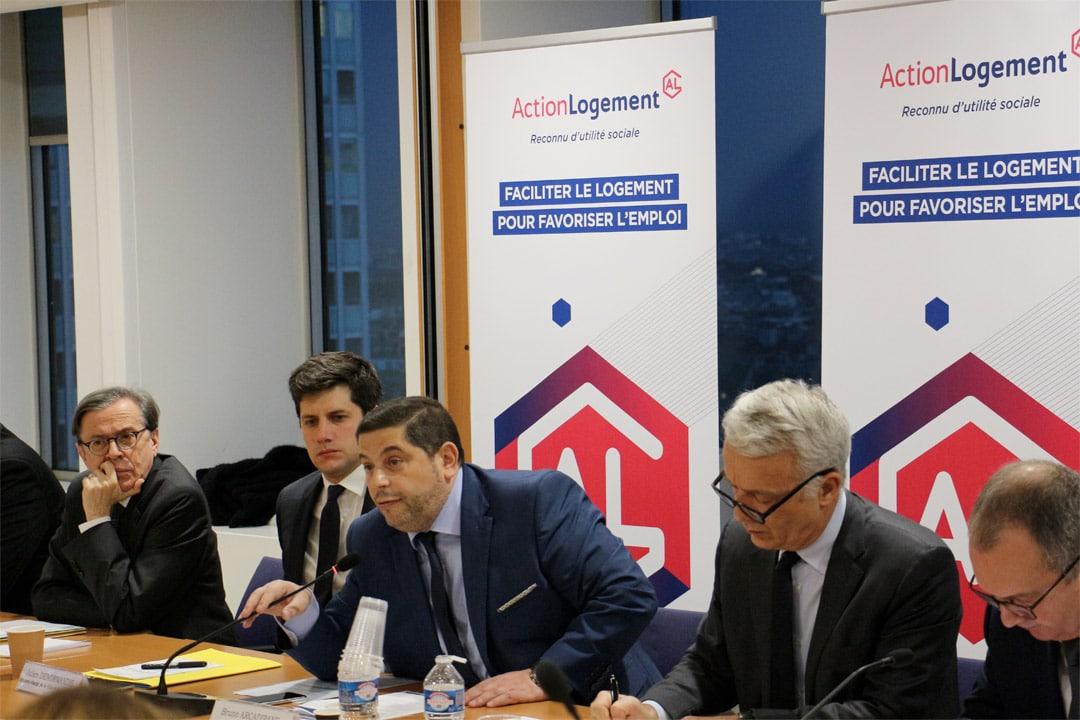 Action Logement et les Partenaires sociaux se sont réunis pour annoncer leur plan pour faciliter l'accès au logement des salariés. [©Action Logement]