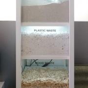 Toute la diversité des matériaux de construction produits par les machines Ame à partir de déchets.