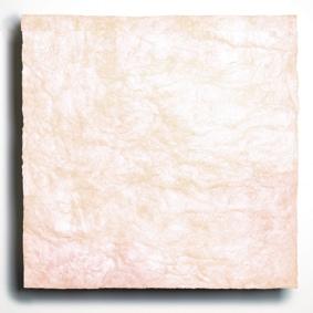 L'aspect de la laine de verre a été profondément modifié, puisqu'il présente désormais une couleur blanc crème.