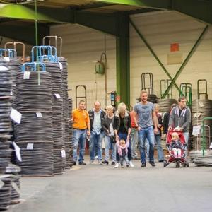 Les employés de Heco ont fait découvrir leur lieu de travail à leurs familles pour le 50e anniversaire. [©Heco]