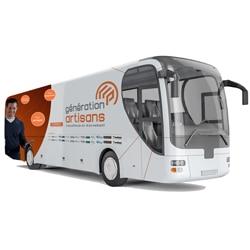 """Dès le 25 septembre prochain, un bus Point.P Matériaux de Construction parcourra quelque 43 villes, afin de présenter le dispositif """"Génération Artisans"""". [©Point.P Matériaux de Construction]"""