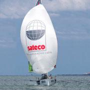 Le monocoque Sateco du skipper Benjamin Dutreux. [©Breschi/Team Vendée]