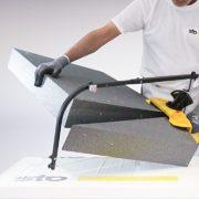 Inédit chez Sto, l'outil de découpe Sto-Fil Chaud Ultra Compact, pour chantiers ITE. [©Sto]