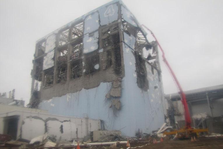 Pompe à béton Putzmeister au poids du réacteur accidenté de Fukushima.