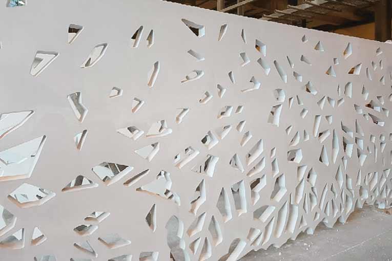 Les éléments en béton architectonique peuvent être réparés… [©Jousselin]