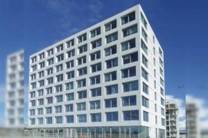 C'est Hydro-Minéral, qui a fourni le minéralisant de surface appliqué sur les façades du bâtiment d'Ecole supérieure des métiers artistiques de Nantes (44). [©Hydro-Minéral]