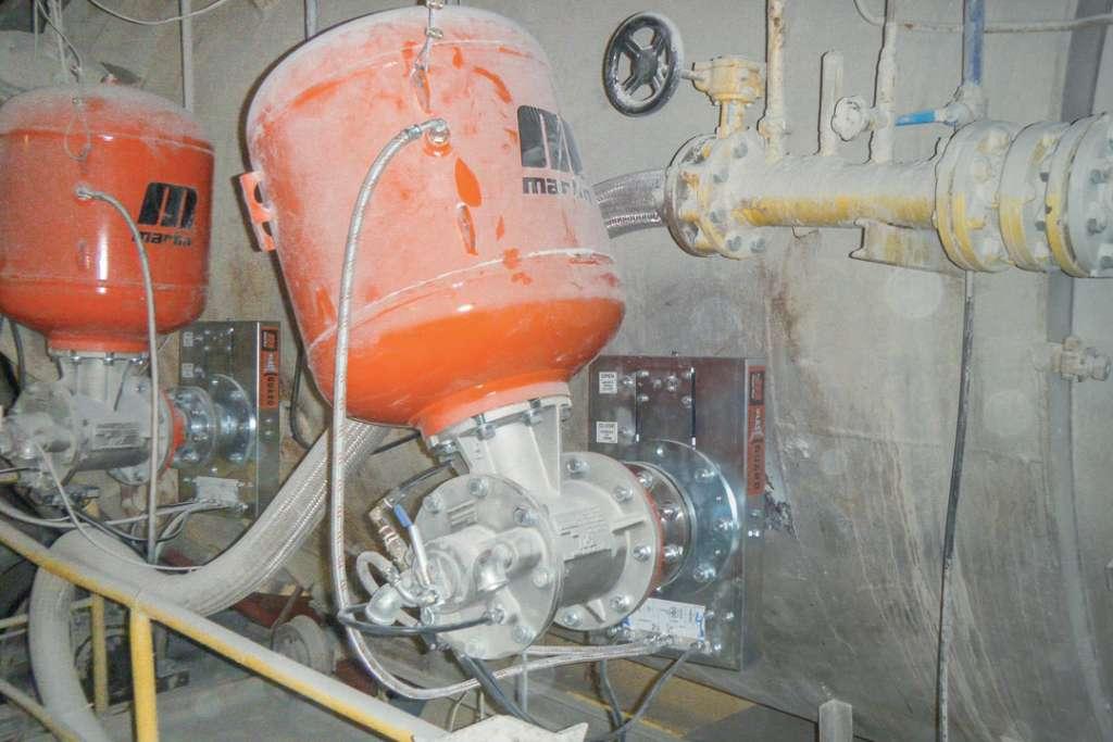 Un canon à air typique décharge sa pleine puissance dans les 1 000 ms suivant l'ouverture de la valve, déchargeant aussi vite que la pression de la cuve approche les 0. [©Martin Engineering]