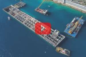Le futur littoral de la Principauté de Monaco se dessine à travers sa ceinture de caissons.