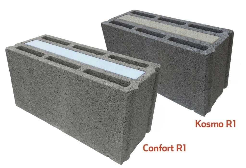 Alkern innove avec sa nouvelle gamme de blocs R1, Confort R1 et Kosmo R1, destinés à la construction de maisons individuelles et d'habitats collectifs à basse consommation jusqu'au R+3. [©Alkern]