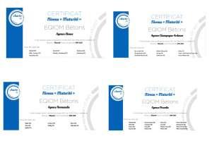 """Quatre nouvelles certifications """"Charte RSE"""" pour Eqiom Bétons. [©Eqiom]"""