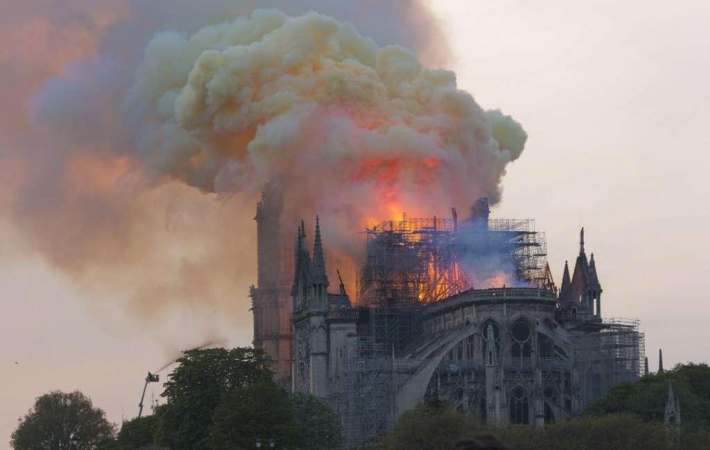 Notre-Dame-de-Paris pendant l'incendie du 15 avril 2019. [©DR]