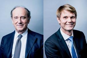 Hervé Le Bouc reste président du conseil d'administration, tandis que Frédéric Gardès devient directeur général du groupe Colas. [©Colas – Franck Juery]