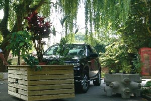 """Le Green Bloc est un bloc anti-attentat """"déguisé"""" en jardinière."""