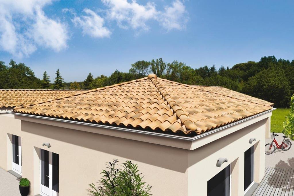 La tuile Noveane de Monier est dédiée au secteur de la maison individuelle comme aux toitures d'envergure. [©Monier]