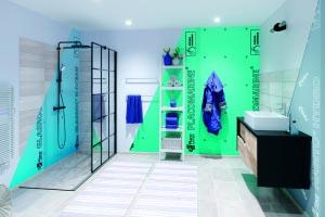 Placomarine, Habito Hydro et Glasroc H Ocean se distinguent par un haut niveau de résistance à l'humidité : idéales pour les salles de bains. [©Placo]