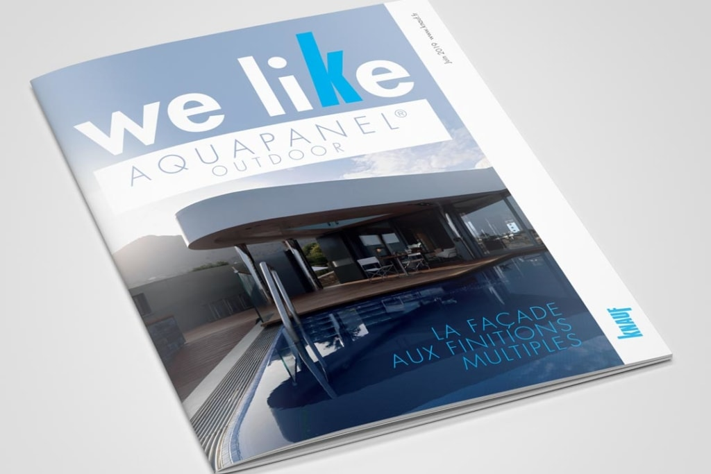 "Knauf propose la nouvelle édition du ""Guide Aquapanel Outdoor"". [©Knauf Insulation]"