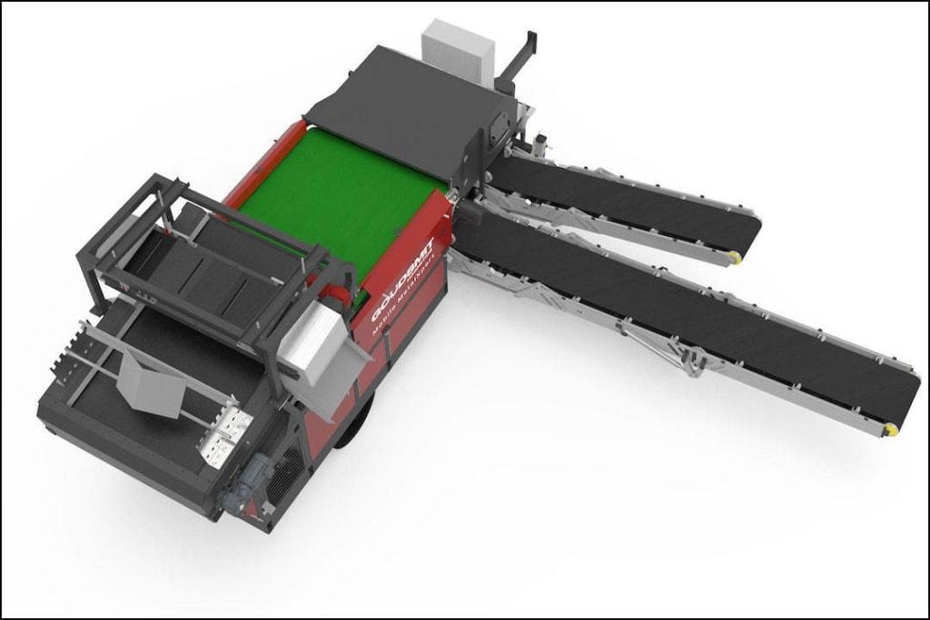Le séparateur mobile de Goudsmit permet un traitement des flux de vrac in situ. [©Goudsmit]
