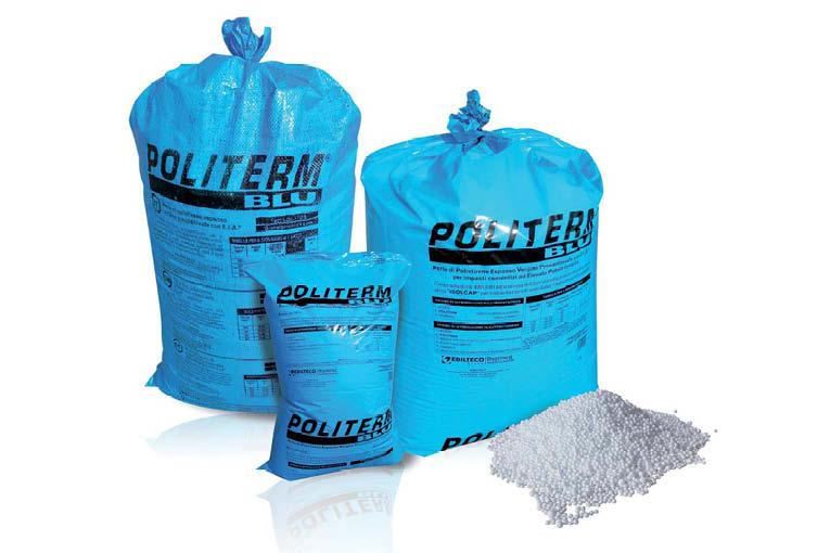 Les billes de polystyrène d'Edilteco permettent d'obtenir une chape légère, adaptée au marché de la rénovation. [©Edilteco]