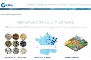 """Eqiom met en ligne son site Internet dédié à son activité """"granulats"""", né d'un travail collaboratif. [©Eqiom]"""