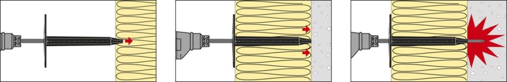 Le compagnon doit mettre en position la cartouche dans son logement avec la valve de celle-ci contre la buse et mettre en place le guide du piston. [©Etanco]