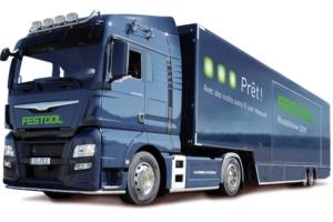 Le camion de Festool traversera 5 régions françaises, pour des journées de démonstrations.
