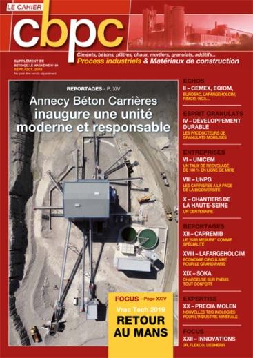 Ciments Bétons Plâtres et Chaux N°947 - Supplément de Béton[s] le Magazine n°84
