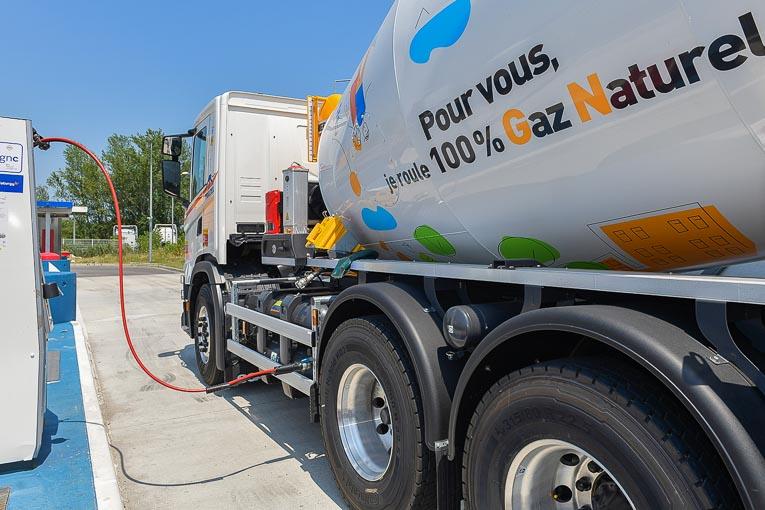 Un simple plein de gaz donne à la toupie d'Unibéton une autonomie de 250 km. [©HeidelbergCement]