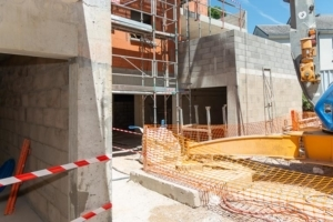 Résidence Le Onze en construction à Chartres.