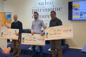 Ciments Calcia et Socli ont récompensé les lauréats des Trophées de la chaux 2019 : Savoirs d'Antan Bâtisseurs d'Avenir, Paramelle et Bounéou.