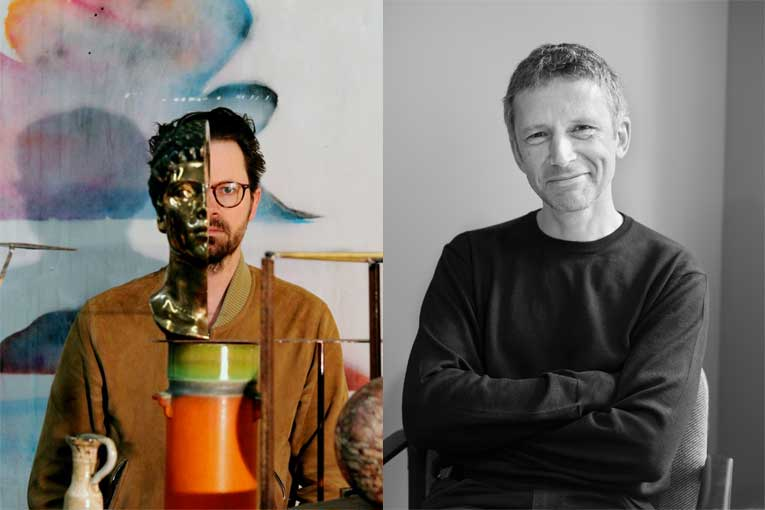 Portrait de Benoît Maire et de Xavier Franceschi