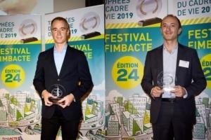 Le cimentier Eqiom a reçu 2 Trophées d'or à l'occasion du festival Fimbacte. [©Eqiom]