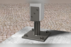 Le goujon FBN II HDG en acier galvanisé de Fisher permet une fixation dans le béton non fissuré. [©Fisher]