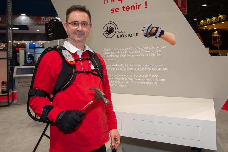 L'avantage principal du gant bionique Ironhand est d'aboutir à une disparition du risque de troubles musculo-squelettiques (TMS). [©ACPresse]