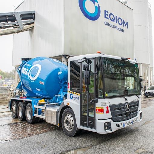 La toupie Econic d'Eqiom Bétons propose un haut niveau de sécurité en circulation urbaine. [©ACPresse]