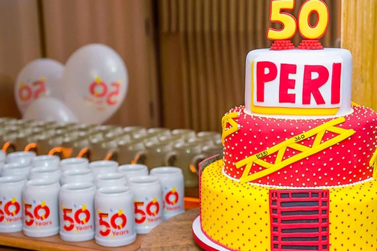 2019 fut l'occasion de fêter les 50 ans de du groupe allemand Peri dans ses filiales. Et notamment Peri France. [©Peri]