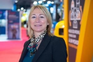 Muriel Testud, gérante de MT Béton.