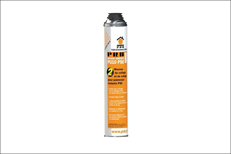 La PRB Mousse adhésive PU10 est utilisée pour fixer rapidement le PSE. [©PRB]