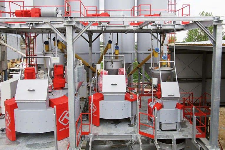 Le Polonais Techmatik assure la production de malaxeurs pour centrales à béton.  [©Techmatik]