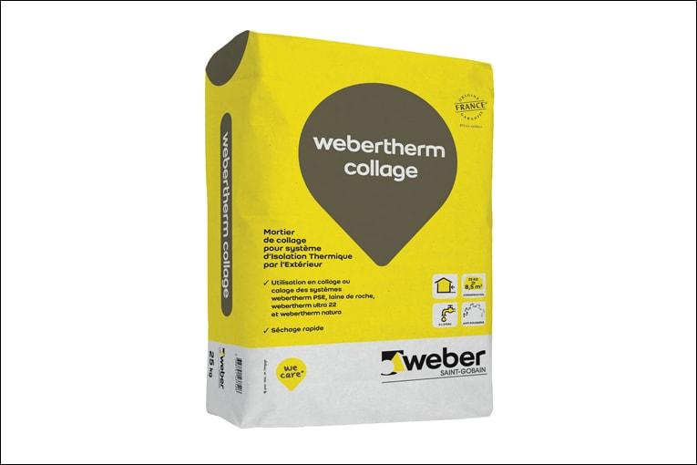 Le webertherm collage est utilisé pour le collage de systèmes d'ITE. [©Weber]
