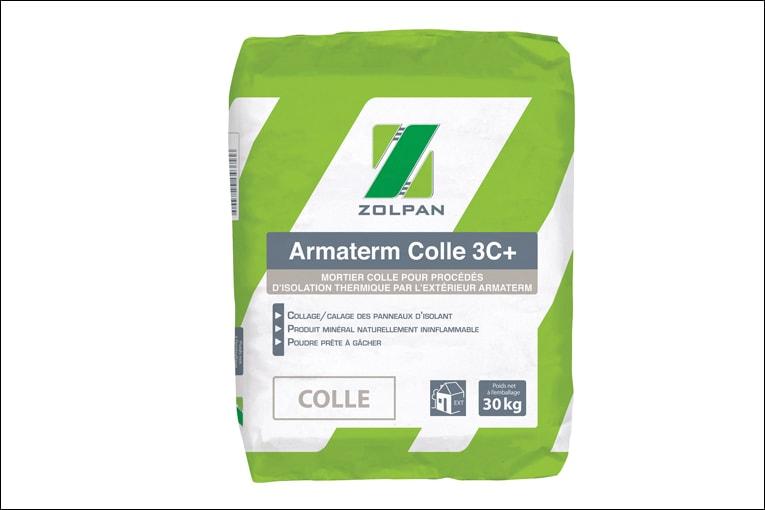L'Armaterm Colle 3C + s'adapte aux systèmes d'isolants thermiques en PSE ou laine minérale. [©Zolpan]