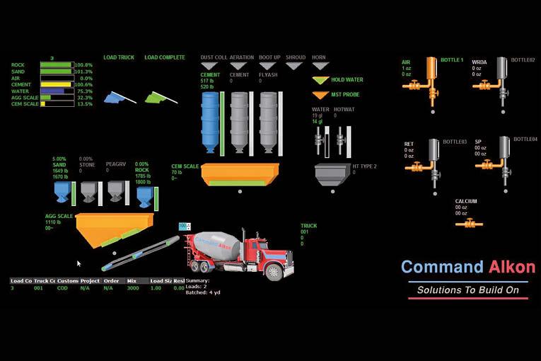 Command Alkon propose un ensemble de logiciels, permettant la gestion et la maintenance préventive des centrales à béton.  [©Command Alkon]